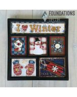 I 'heart' Winter Shadow Box Kit - Foundations Décor