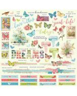 Simple Vintage Botanicals Combo Stickers