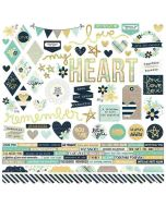 Heart Combo Stickers - Simple Stories