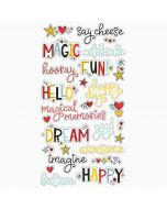 Chipboard Word Stickers