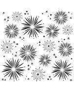 """Fireworks 6"""" x 6"""" Stencil"""