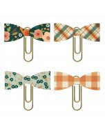 Fall Farmhouse Bow Clips - Simple Stories