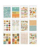 Autumn Splendor Banner Stickers - Simple Stories