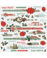 Country Christmas Border Stickers - Simple Stories