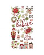 "Holly Jolly 6"" x 12"" Chipboard Stickers - Simple Stories"