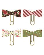 Holly Jolly Bow Clips - Simple Stories