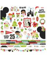 Say Cheese Christmas Combo Stickers - Simple Stories