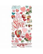 "Simple Vintage My Valentine 6"" x 12"" Chipboard Stickers - Simple Stories*"