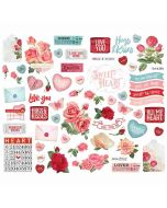 Simple Vintage My Valentine Bits & Pieces - Simple Stories