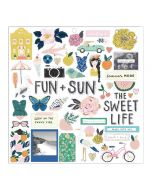 Crate Paper 12 x 12 Chipboard Stickers - Sunny Days