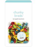 I Heart Travel Chunky Brads - Doodlebug Design