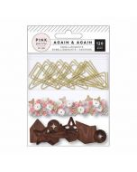 Again & Again Mixed Embellishments - Pink Paislee