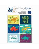 Lenticular Dinosaur Stickers - Field Trip - Shimelle - American Crafts