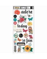"Wildflower & Honey 6"" x 12"" Stickers - Vicki Boutin - American Crafts"