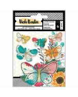 Layered Butterfly Stickers - Wildflower & Honey - Vicki Boutin - American Crafts