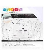 "White Textured Precision Cardstock 12"" x 12"" - American Crafts"
