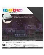 "Black Textured Precision Cardstock 12"" x 12"" - American Crafts"