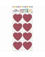 Glitter Heart Stickers - Slice of Life - Amy Tangerine - American Crafts