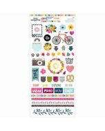 "Slice of Life 6"" x 12"" Stickers - Amy Tangerine - American Crafts"