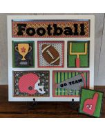 Football Shadow Box Kit - Foundations Décor