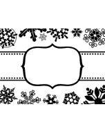 Cgull 12-0015 Embossing Folder Snowflake Border