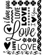 Cgull 12-0016 Embossing Folder Valentine Love