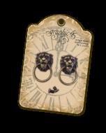 Antique Brass Lion Head Door Knockers - Graphic 45