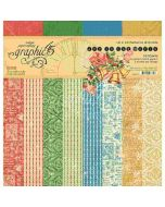 """Joy to the World 12"""" x 12"""" Patterns & Solids Kit - Graphic 45"""