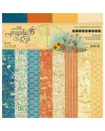"""Dreamland 12"""" x 12"""" Patterns & Solids Paper Pad - Graphic 45"""