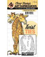 Giraffe Twist Card Stamp and Die set