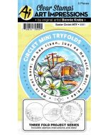 Art Impressions Easter Circlet Tryfold card die and stamp set