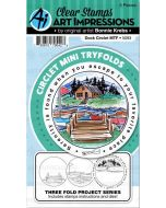 Art Impressions Dock Circlet Tryfolds die and stamp set