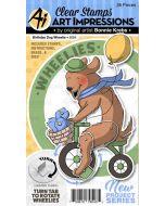 Birthday Dog Wheelie Card die & Stamp Set