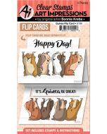 Art Impressions Guinea Pig Flip Card
