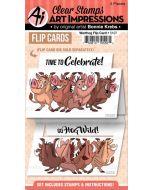 Art Impression Warthog Flip Card