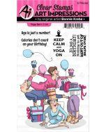Art Impressions Yoga Stamp Set