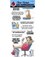 Art Impressions Housework Stamp Set