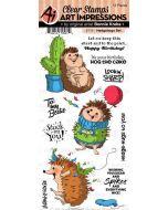 Art Impressions Hedgehog stamp set