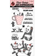 Art Impressions Panda Stamp Set