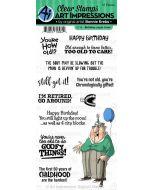 Art Impressions Birthday Laugh Lines Stamp Set