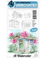 Art Impressions Garden Shed Watercolor Stamp Set