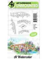 Art Impressions Bridge Watercolor Stamp Set
