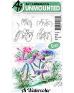 Art Impressions Bicycle Watercolor Stamps
