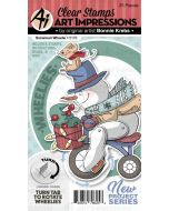 Snowman Wheelie Stamps & Dies - Art Impressions