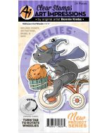 Halloween Cat Wheelie Stamps & Dies - Art Impressions