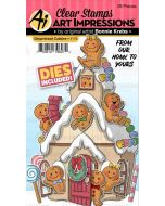 Gingerbread Cubbies Stamps & Dies - Art Impressions