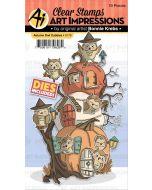 Autumn Owl Cubbies Stamps & Dies - Art Impressions