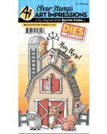Barnyard Animal Cubbies Stamps & Dies - Art Impressions