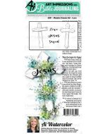 Wooden Crosses Bible Journaling Cling Cushion Rubber Stamps - Art Impressions