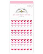Doodlebug Baby Hearts Shape Stickers
